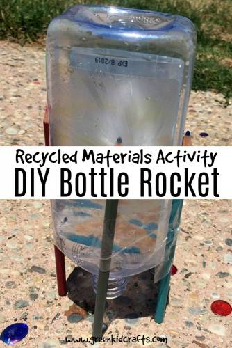 Make a diy bottle rocket from a plastic bottle. This would make a fun summer activity!