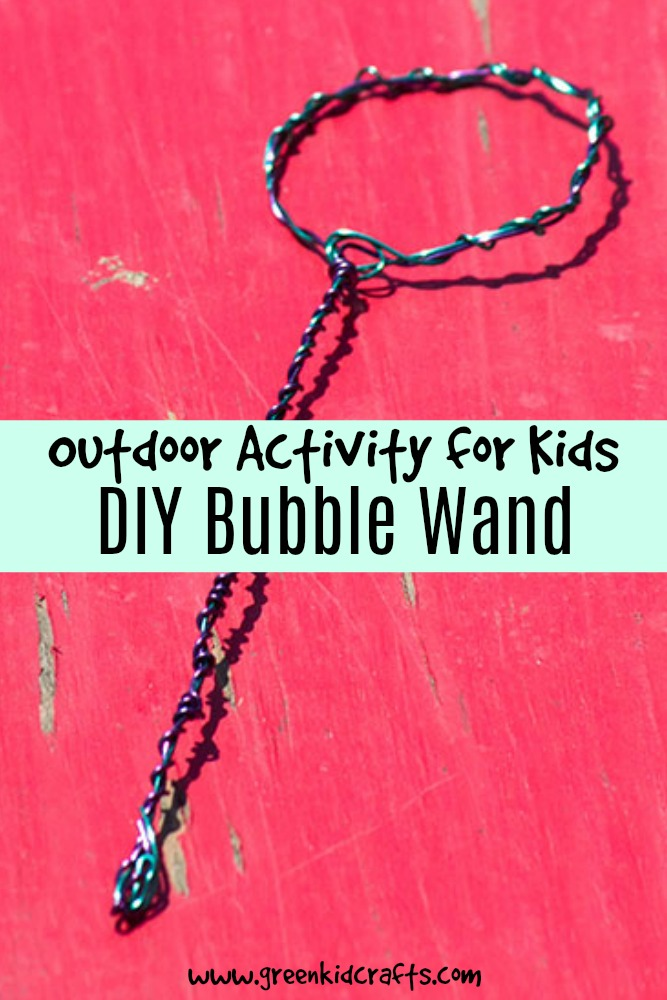 DIY bubble wand from supplies you can find around the house. Also tells you how to make your own bubble solution!