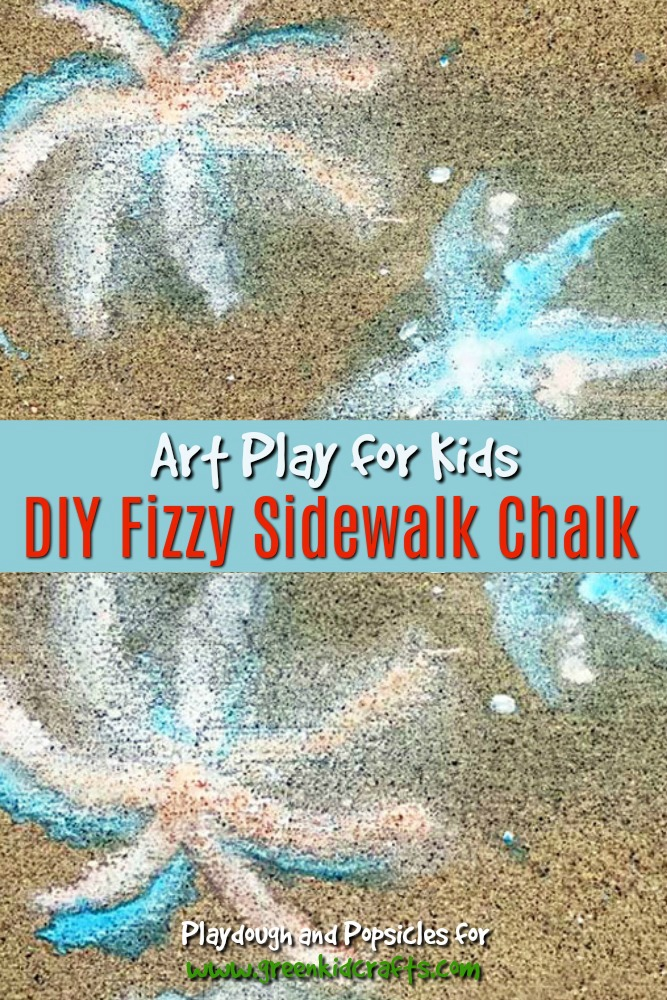 DIY fizzy sidewalk chalk. Make your own sidewalk chalk that foams and fizzes on the sidewalk!