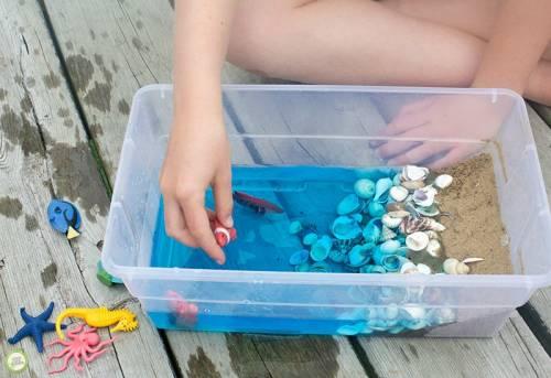 ocean sensory bin