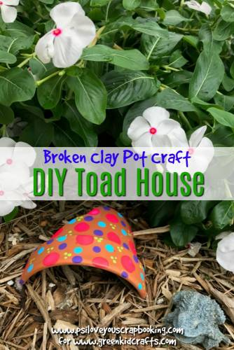 DIY toad house clay pot craft. Make a toad house for your garden using a broken clay pot. This is so cute!