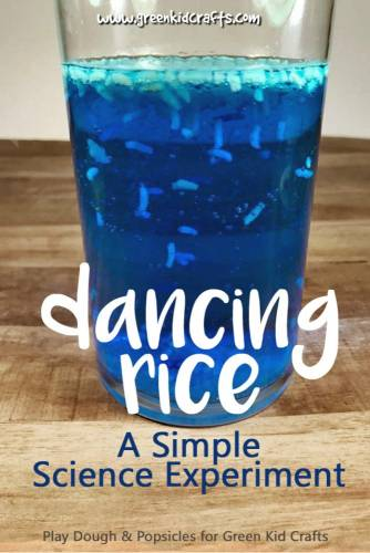 Dancing rice experiment for kids. A kitchen science experiment that makes rice dance in liquid like magic!