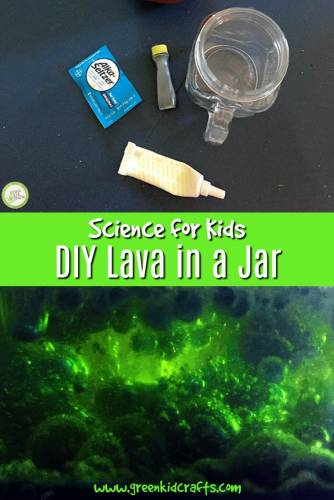 DIY lava in a jar experiment for kids. Create lava in a jar, diy lava lamp.
