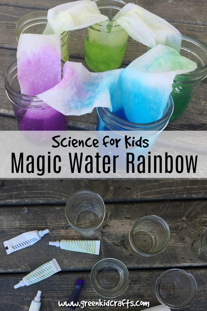 Traveling Water Rainbow Experiment - Green Kid Crafts