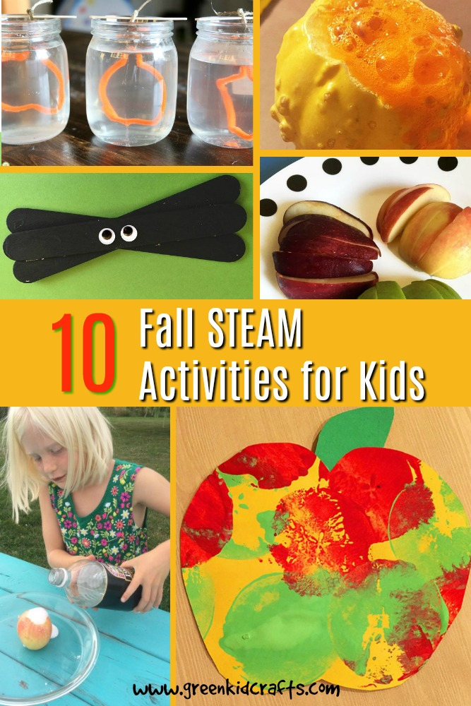 10 fall crafts and science activities for kids. A round-up of our favorite autumn activities for kids.