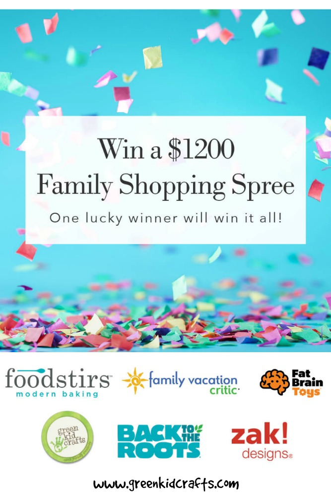 Enter to win $1200 in prizes from top brands. Foodstirs, Family Vacation Critic, zak! Designs, Green Kid Crafts, Back to the Roots, and Fat Brain Toys. Huge fall giveaway 2017.