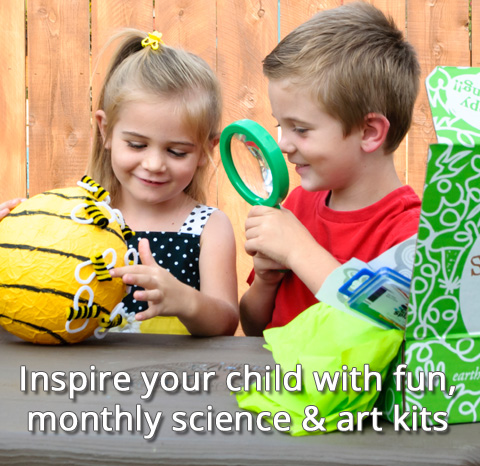 Inspire your child with fun, monthly science and art kits