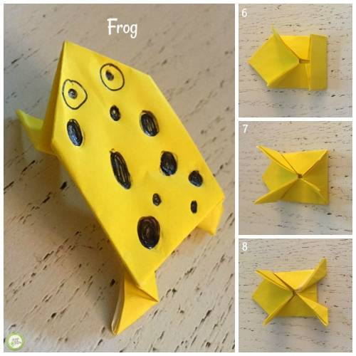 origami frog from Green Kid Crafts