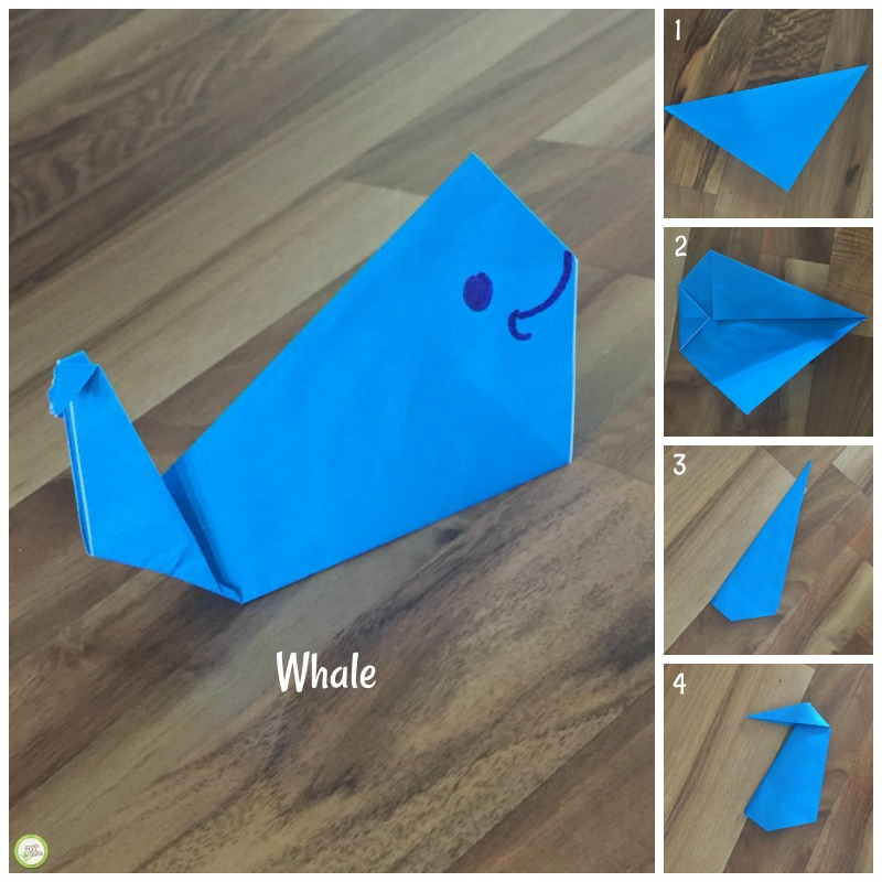 origami whale from Green Kid Crafts