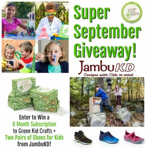 Super September GIveaway. Green Kid Crafts and JambuKD.
