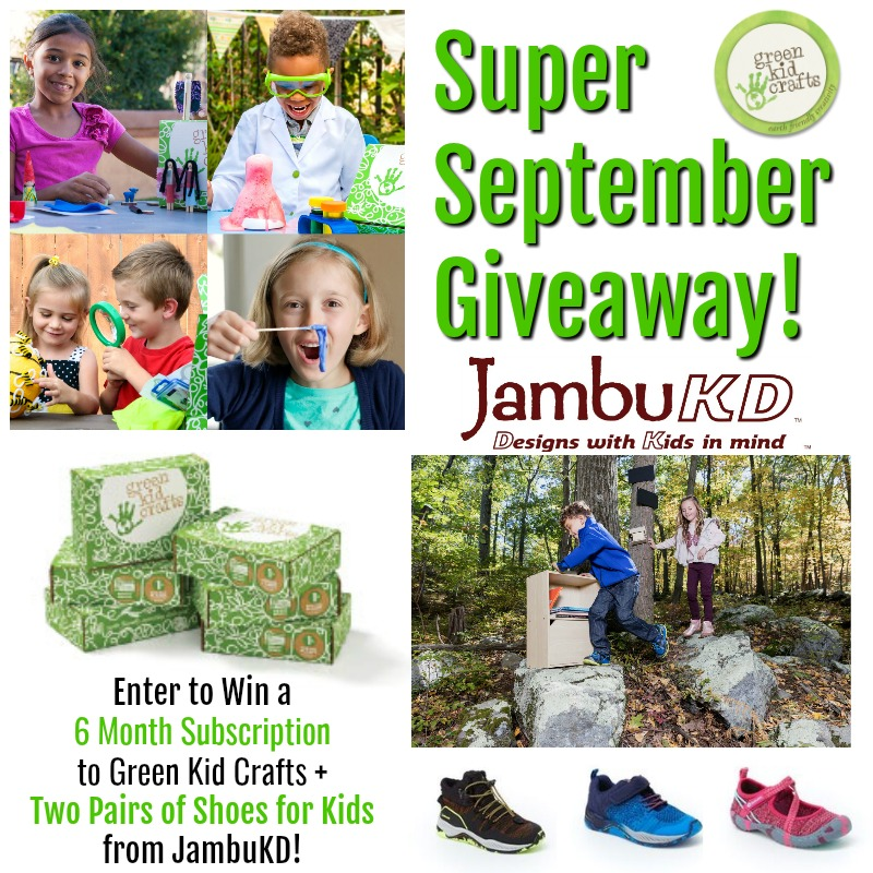 Super September GIveaway. Green Kid Crafts and JambuKD.