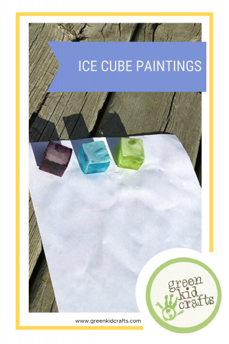 Ice cube paintings