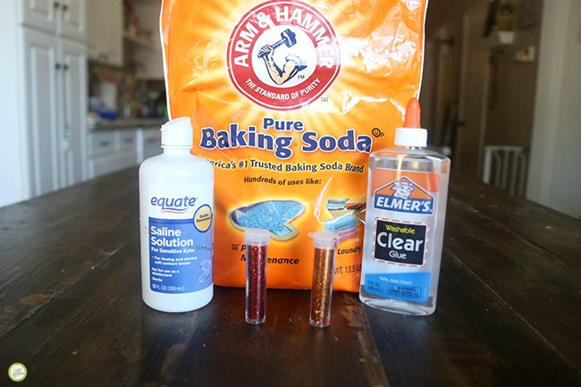 contact solution fall slime recipe green kid crafts