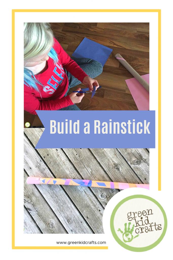 paper roll rain stick
