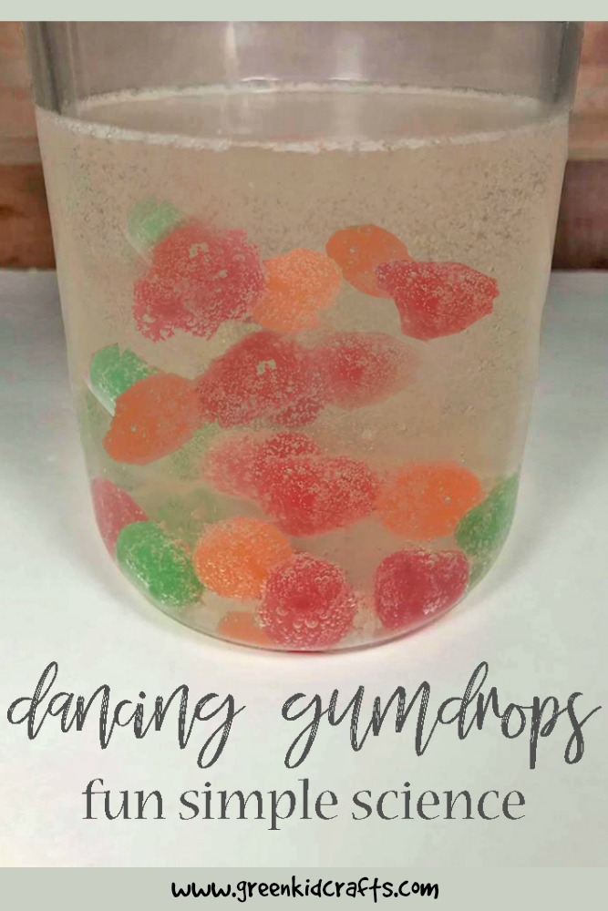 Christmas science activity dancing gumdrops. Candy science for kids. #christmasscience