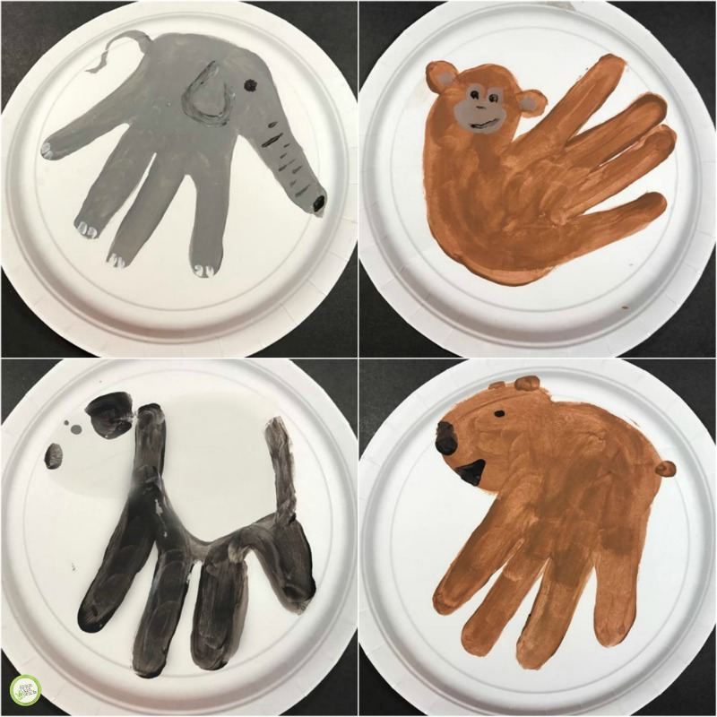 animal handprint art