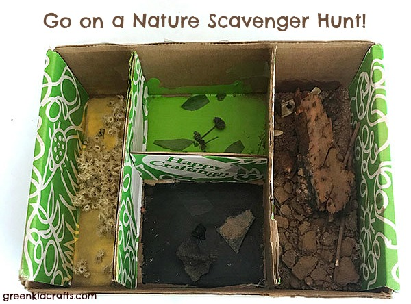 nature tray scavenger hunt