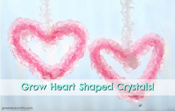 crystal growing heart science