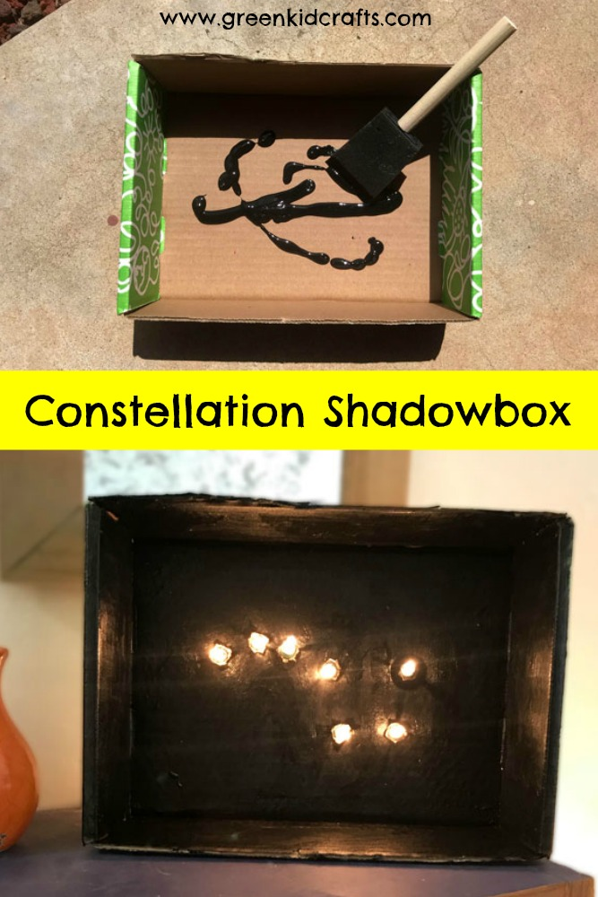 Build a simple circuit to light up a constellation shadow box! Cool science projects for kids.