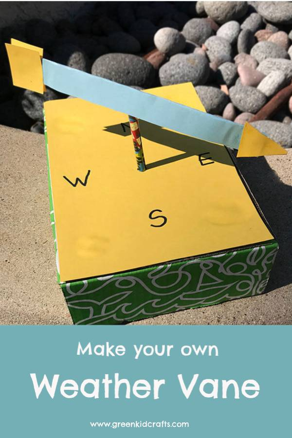Weather project for kids. DIY weather vane project.