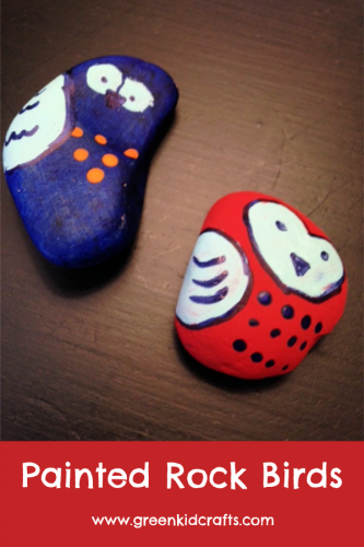 Painted Rocks Project.Paint these little birds on rocks and put them in your yard.