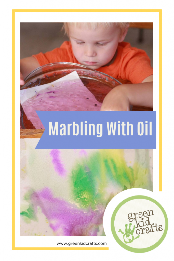 marbling with oil