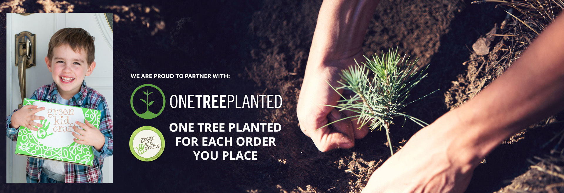 Green Kid Crafts plants one tree for each online order