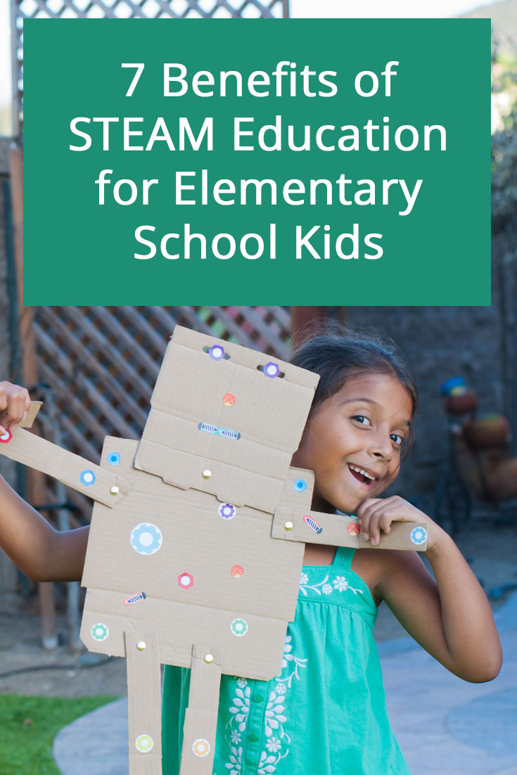 7 benefits of STEAM education for elementary kids. While STEM programs get a ton of attention, STEAM programs are just as important. Here are six specific reasons why STEAM learning should be a integral part of every educational program.