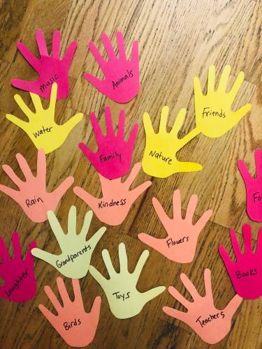 Thankfulness Hand Print Tree