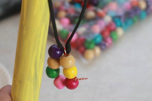 Beads on Hiking Sticks
