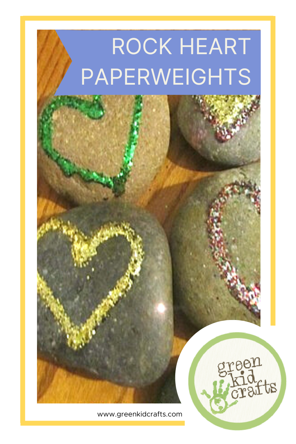 Rock Heart paperweights